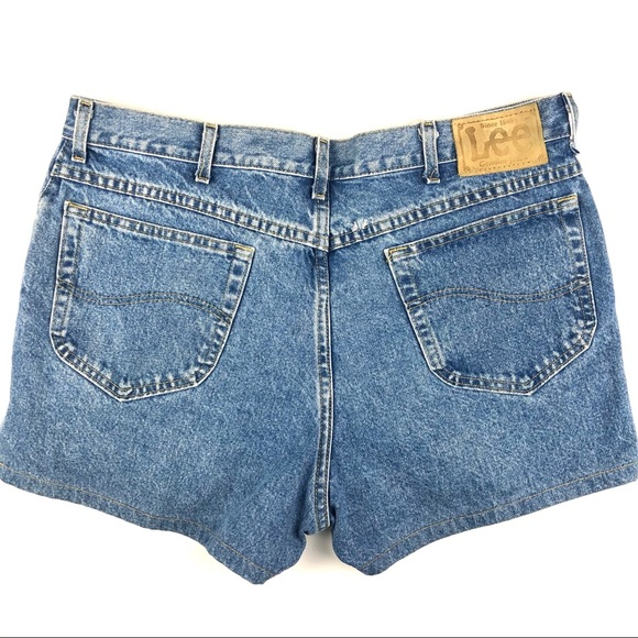 Lee Pants - VINTAGE LEE High Rise Jean Shorts High Waist Denim